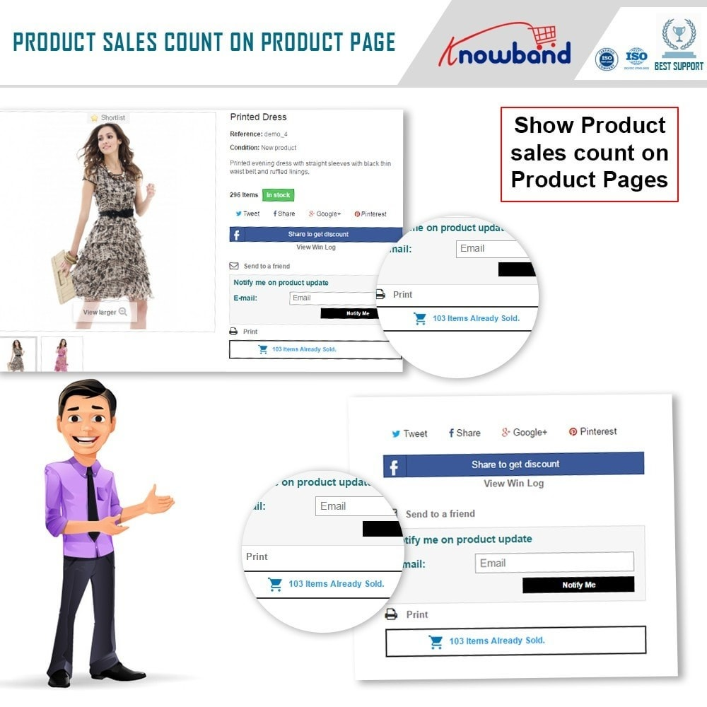 module - Zusatzinformationen & Produkt-Tabs - Knowband - Product Sales Count - 3