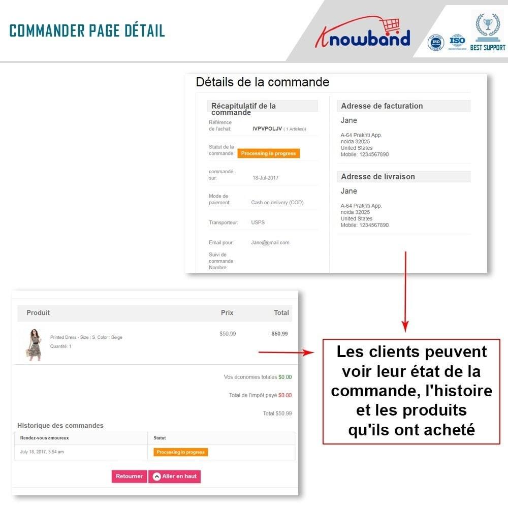 module - Gestion des Commandes - Knowband - Suivi de Commande Mobile - 3