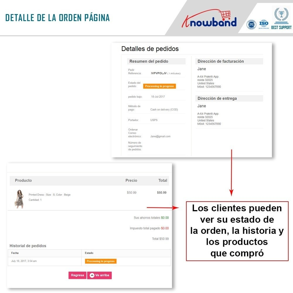 module - Gestión de Pedidos - Knowband - Seguimiento de la Orden - 3
