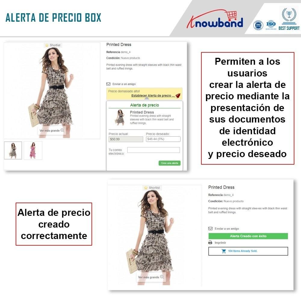 module - Gestión de Precios - Knowband - Alerta de precio - Notificar a los clientes - 3