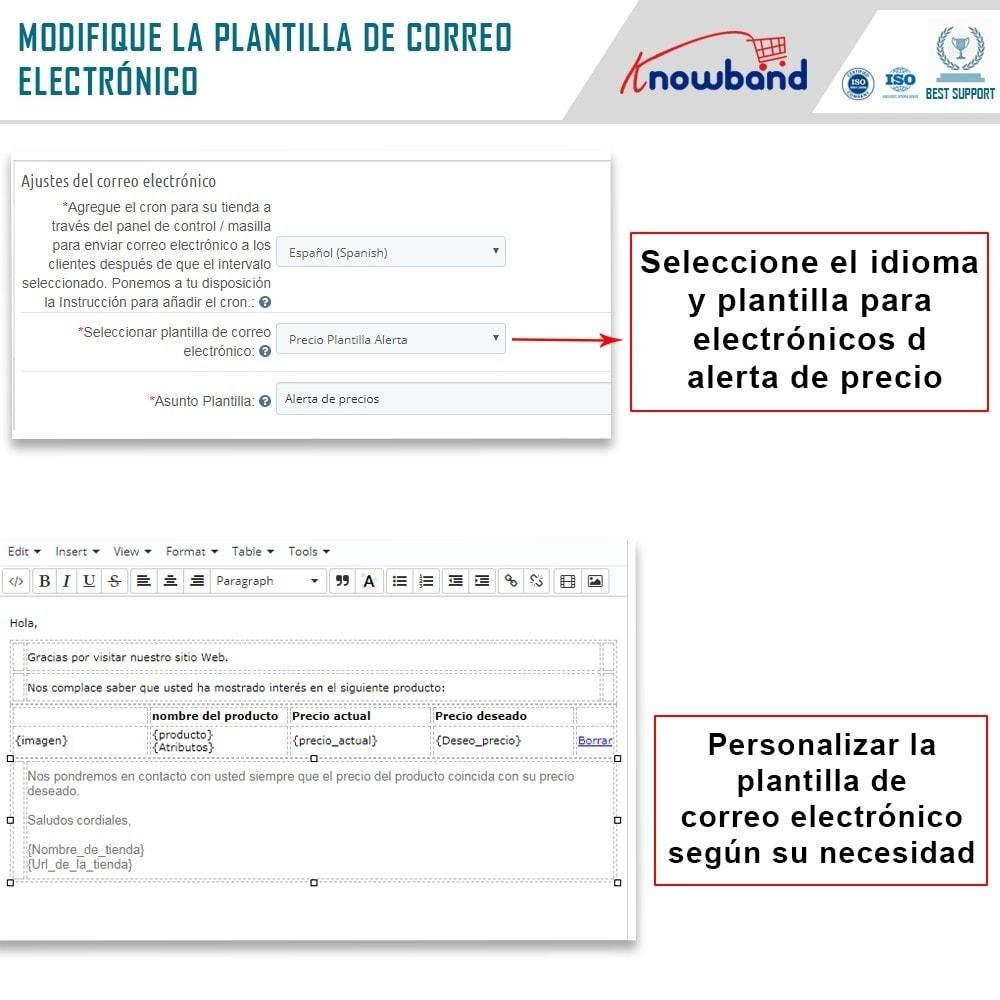 module - Gestión de Precios - Knowband - Alerta de precio - Notificar a los clientes - 5