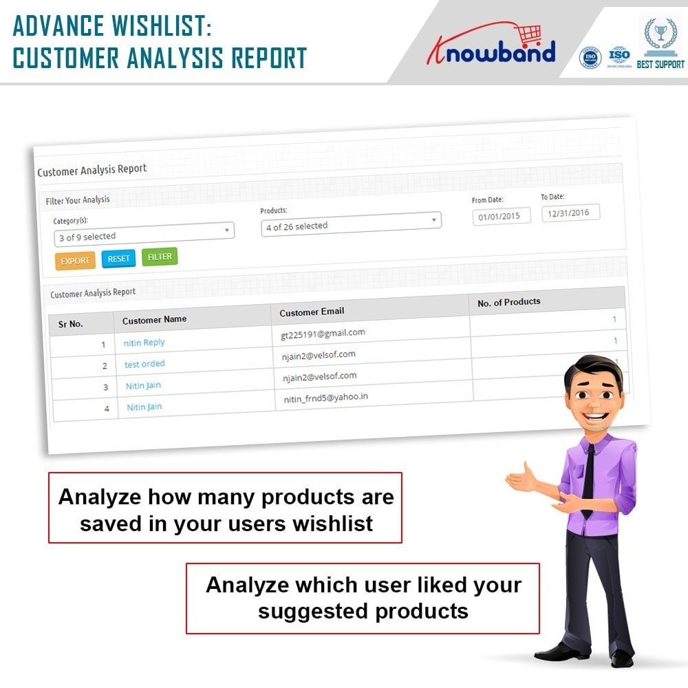 module - Wunschzettel & Geschenkkarte - Knowband - Prestashop Advanced Wishlist/Save For Later - 8