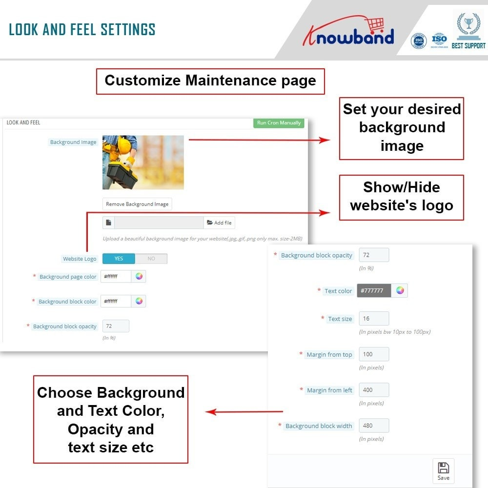 module - Personalizacja strony - Knowband - Maintenance Page Customizer - 7
