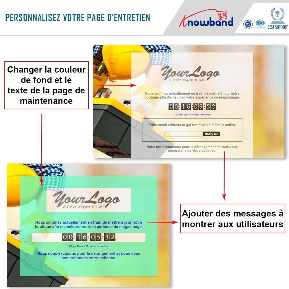 module - Personnalisation de Page - Knowband - Personnalisation de la  Page de Maintenance - 4