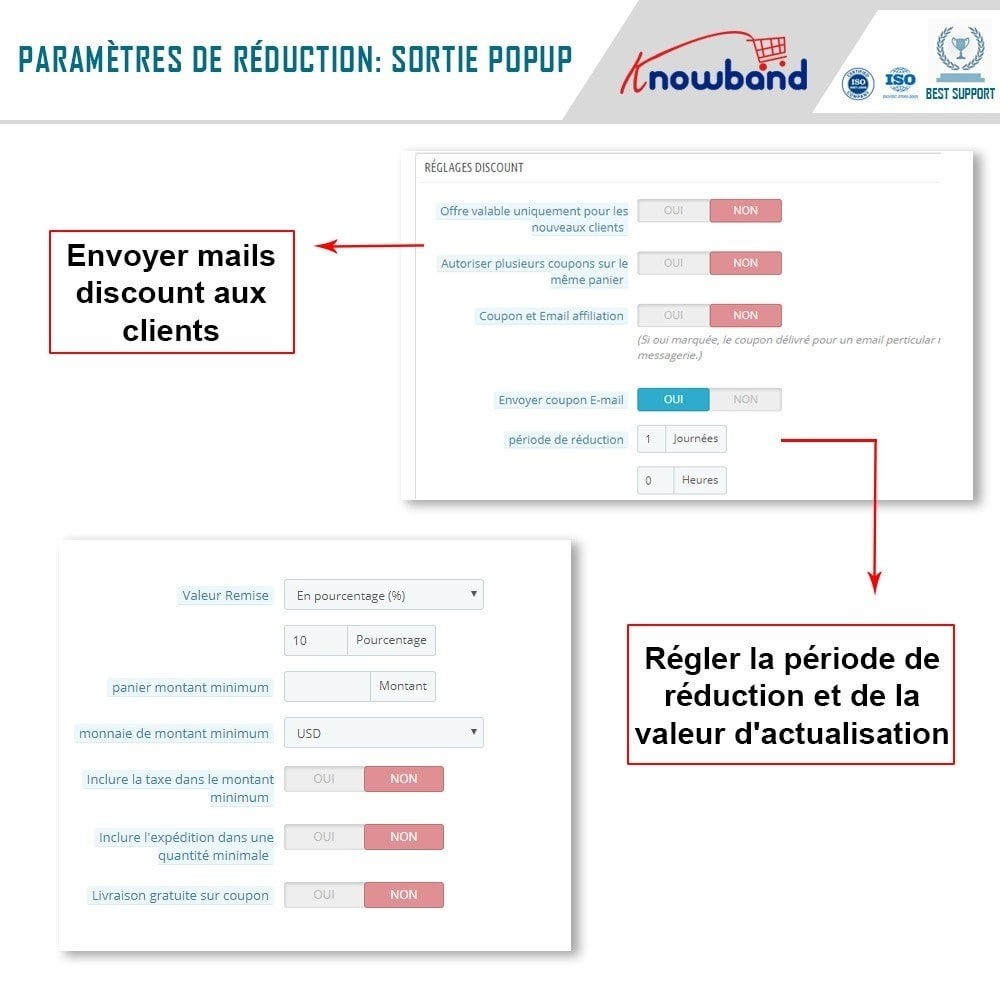 module - Remarketing & Paniers Abandonnés - Knowband - Pop-Up de Fermeture - 5