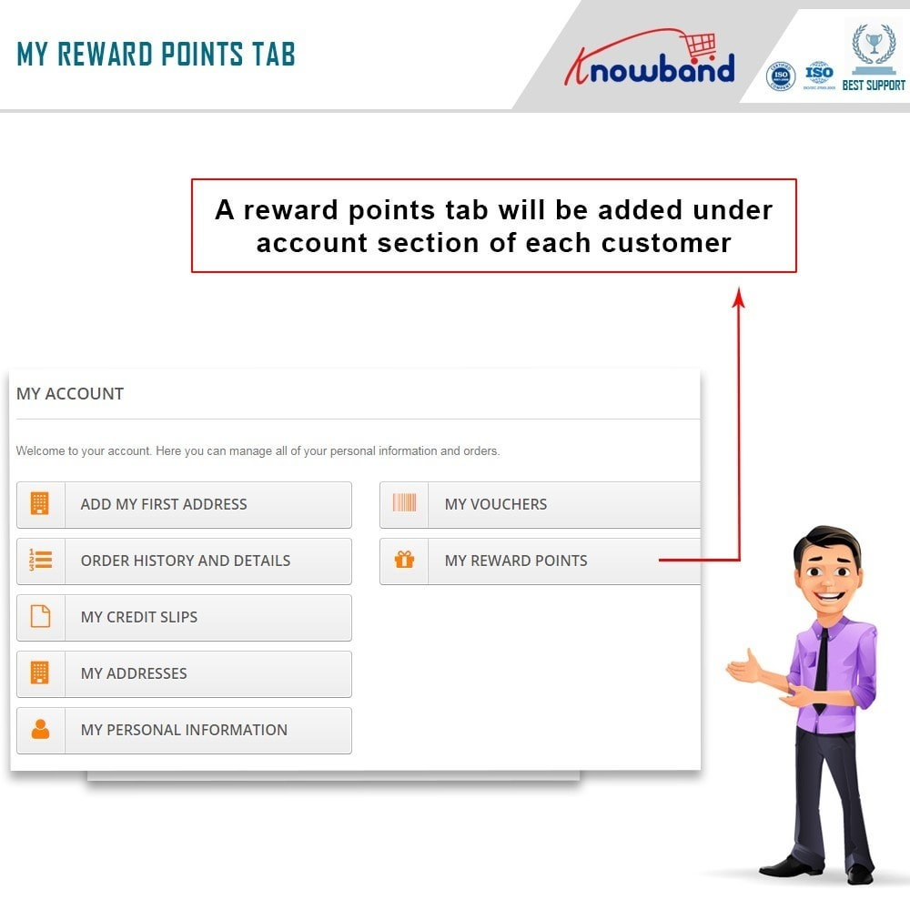 module - Referral & Loyalty Programs - Knowband - Reward points - 2
