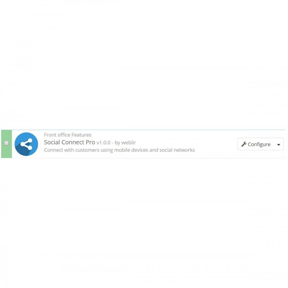 module - Supporto & Chat online - Social Connect Pro - Pulsante sociale, chiamata e SMS - 2