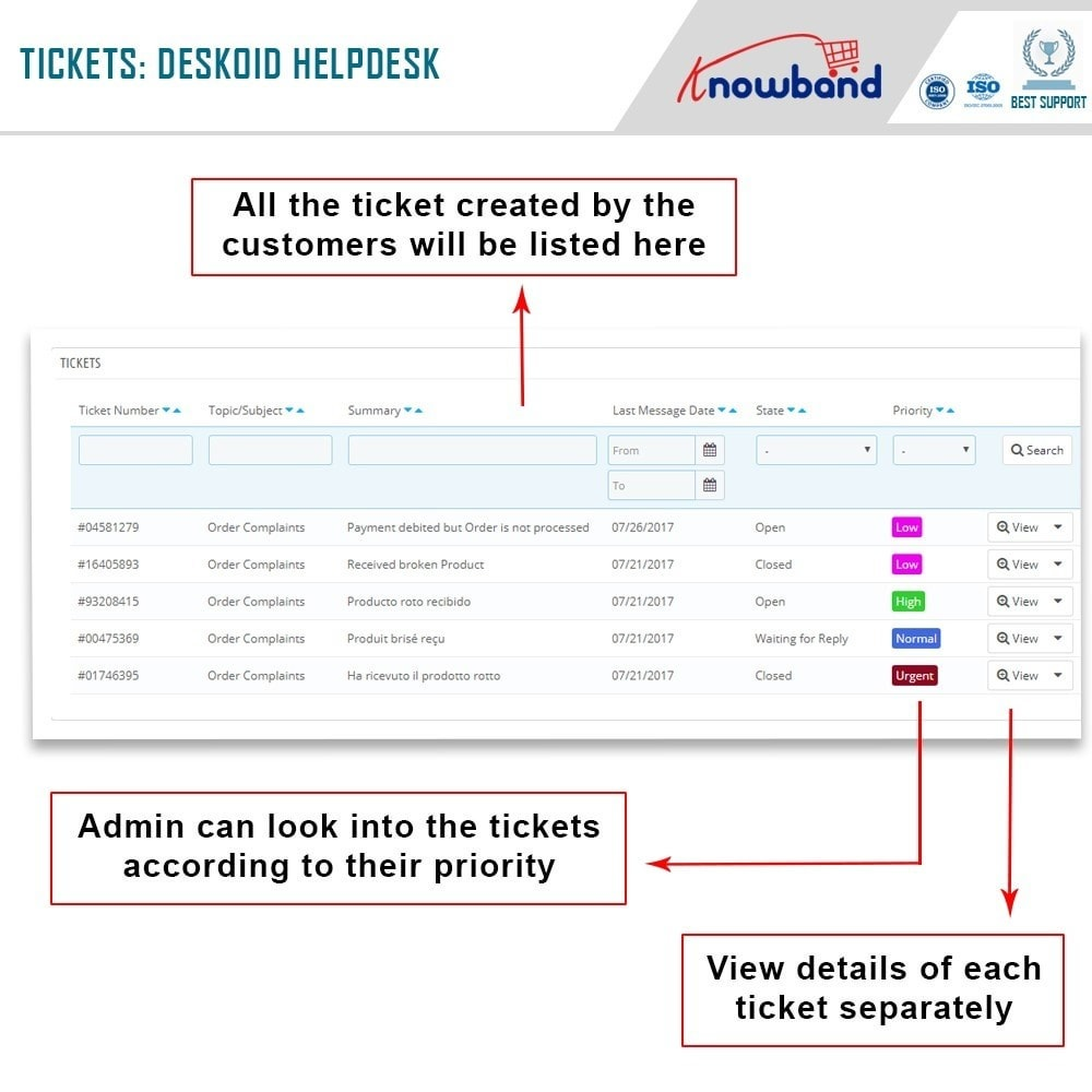module - Customer Service - Deskoid Helpdesk - 4