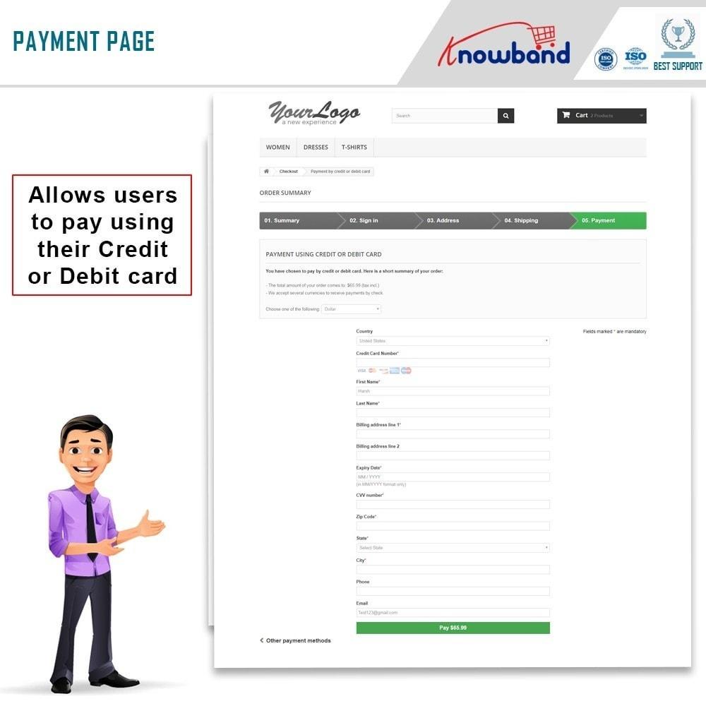 module - Оплата банковской картой или с помощью электронного кошелька - Knowband - Paypal Direct Payment - 4