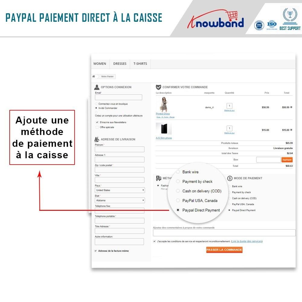 module - Paiement par Carte ou Wallet - Knowband - Paiement Direct par PayPal - 3