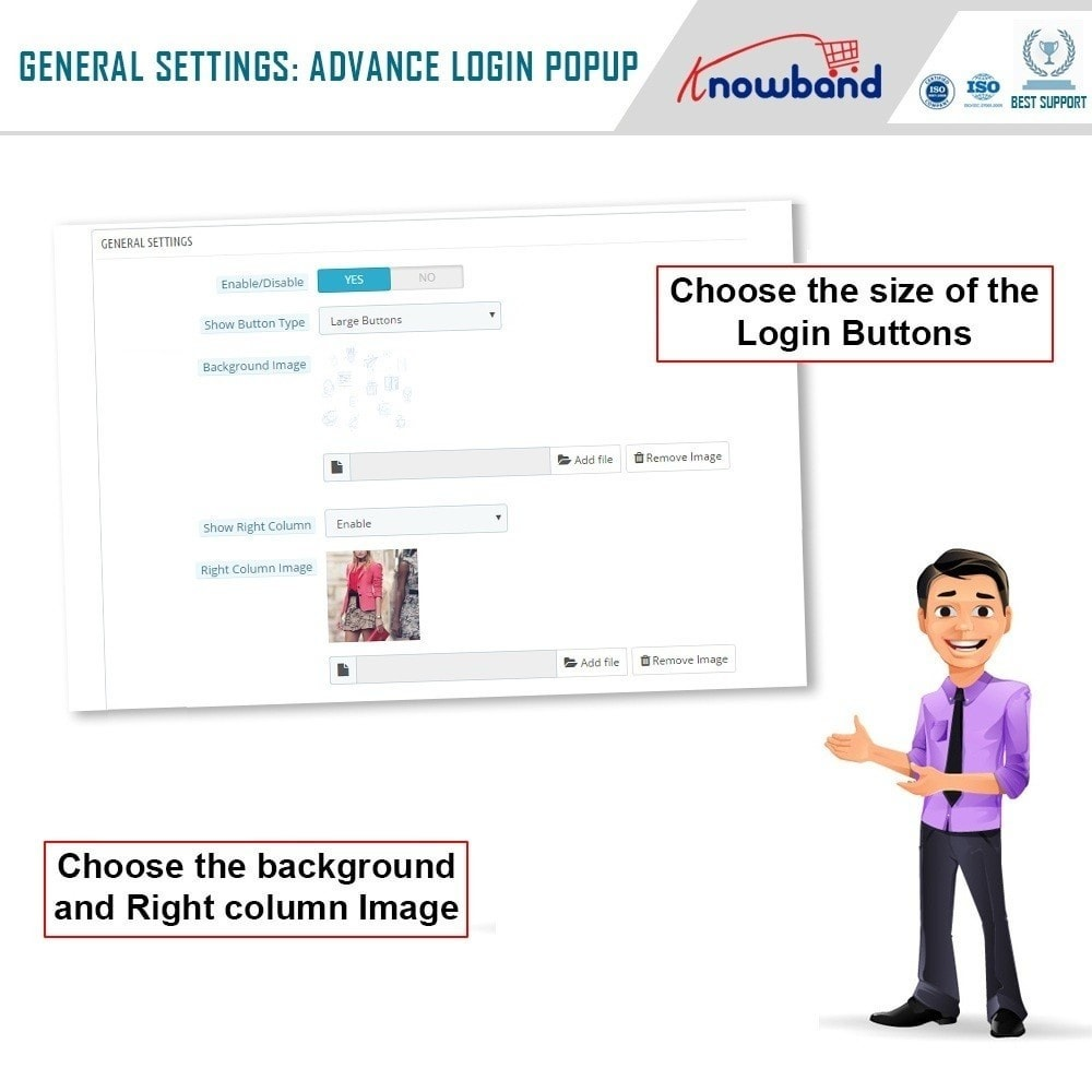 module - Módulos de Botões de Login & Connect - Knowband - Quick Login Popup (with Social Login) - 4