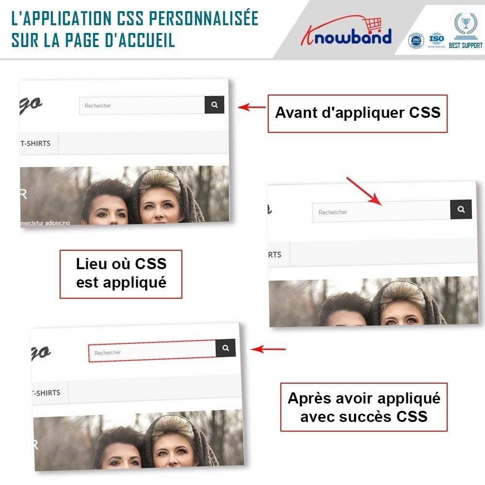 module - Personnalisation de Page - Knowband - Codes CSS et JS personnalisés - 2