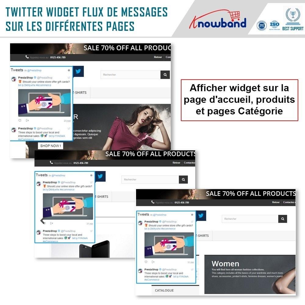 module - Widgets réseaux sociaux - Knowband - Flux de Posts Twitter - 3