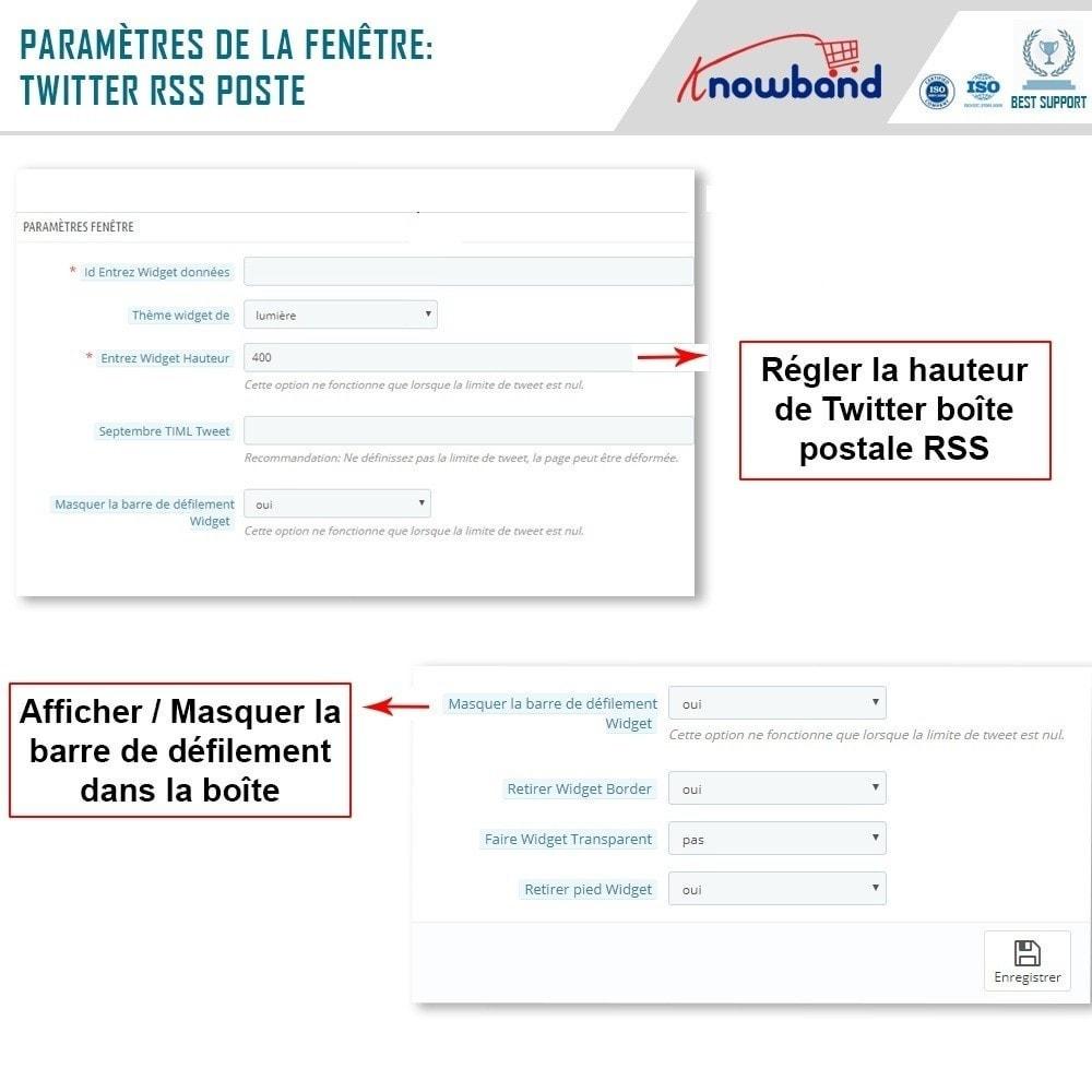 module - Widgets réseaux sociaux - Knowband - Flux de Posts Twitter - 5