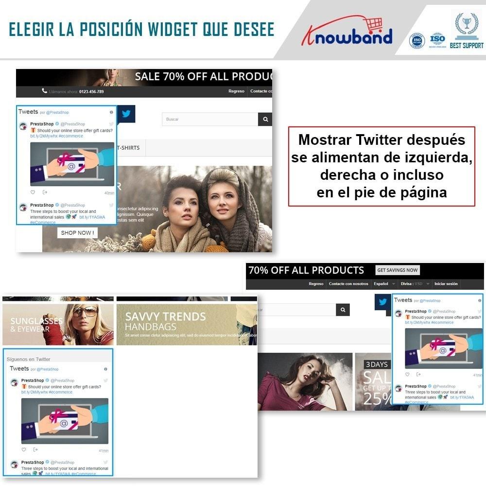 module - Widgets para redes sociales - Knowband - Publicaciones de Twitter - 2
