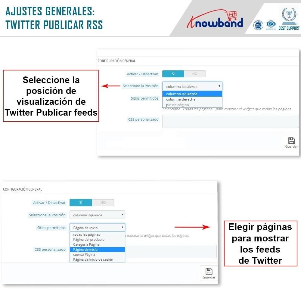 module - Widgets para redes sociales - Knowband - Publicaciones de Twitter - 4