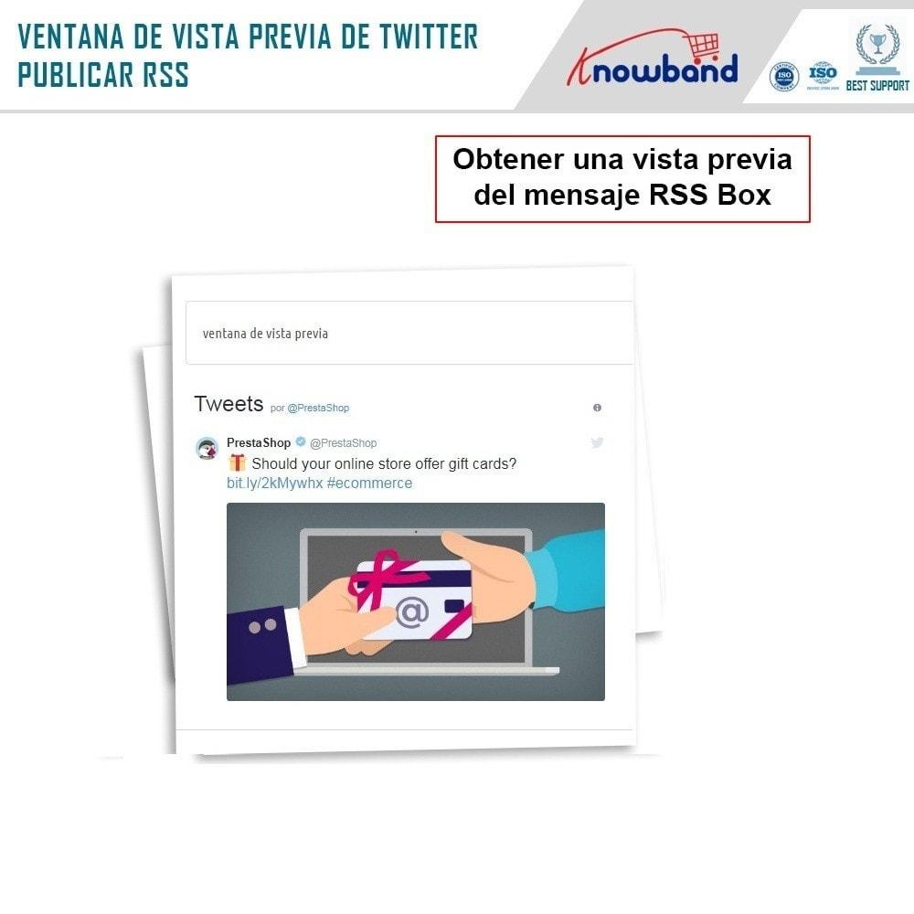 module - Widgets para redes sociales - Knowband - Publicaciones de Twitter - 6