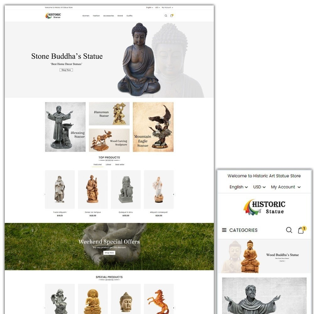 theme - Art & Culture - Historic Art Statue Store - 1
