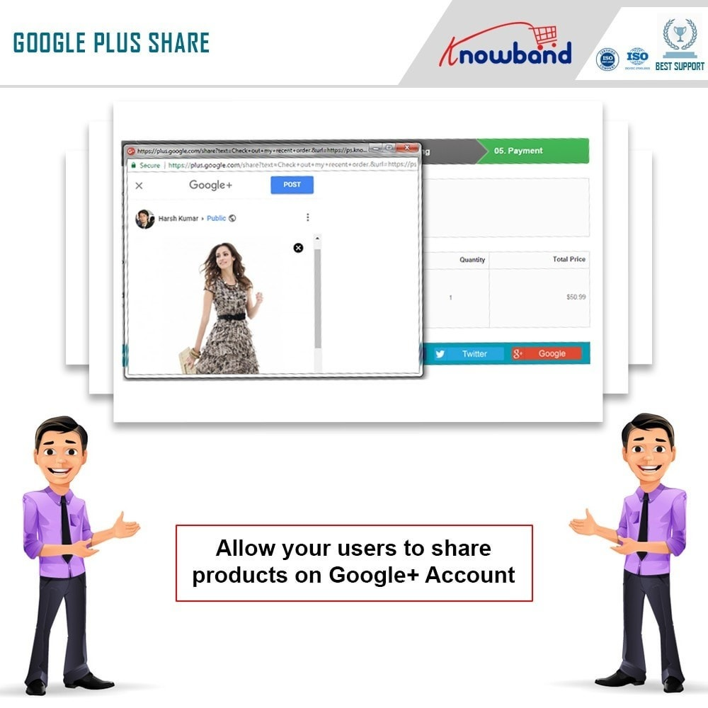 module - Share Buttons & Comments - Knowband - Order Social Sharing - 6