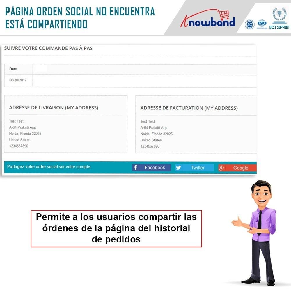 module - Compartir contenidos y Comentarios - Knowband - Compartir Pedidos en Redes Sociales - 3