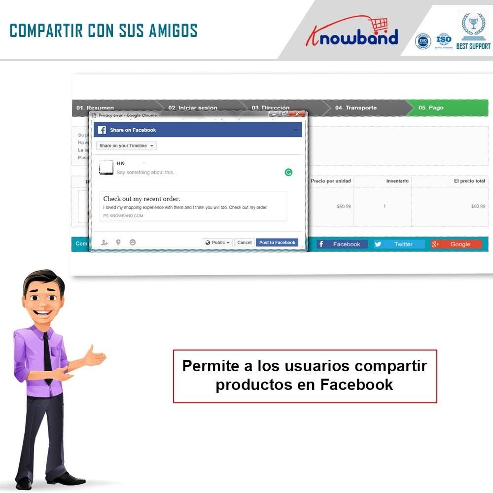 module - Compartir contenidos y Comentarios - Knowband - Compartir Pedidos en Redes Sociales - 4