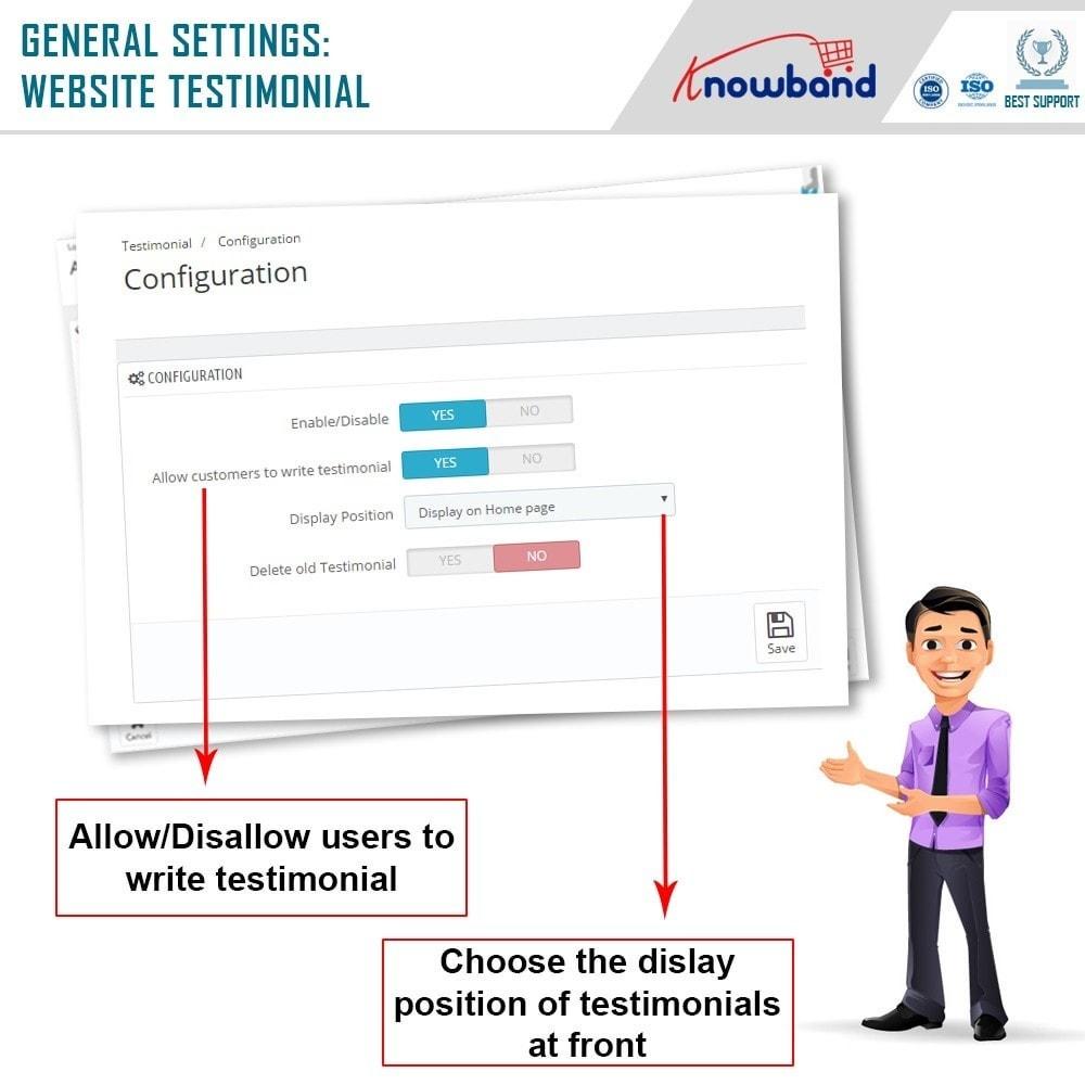 module - Opiniões de clientes - Knowband - Depoimentos no Website - 5