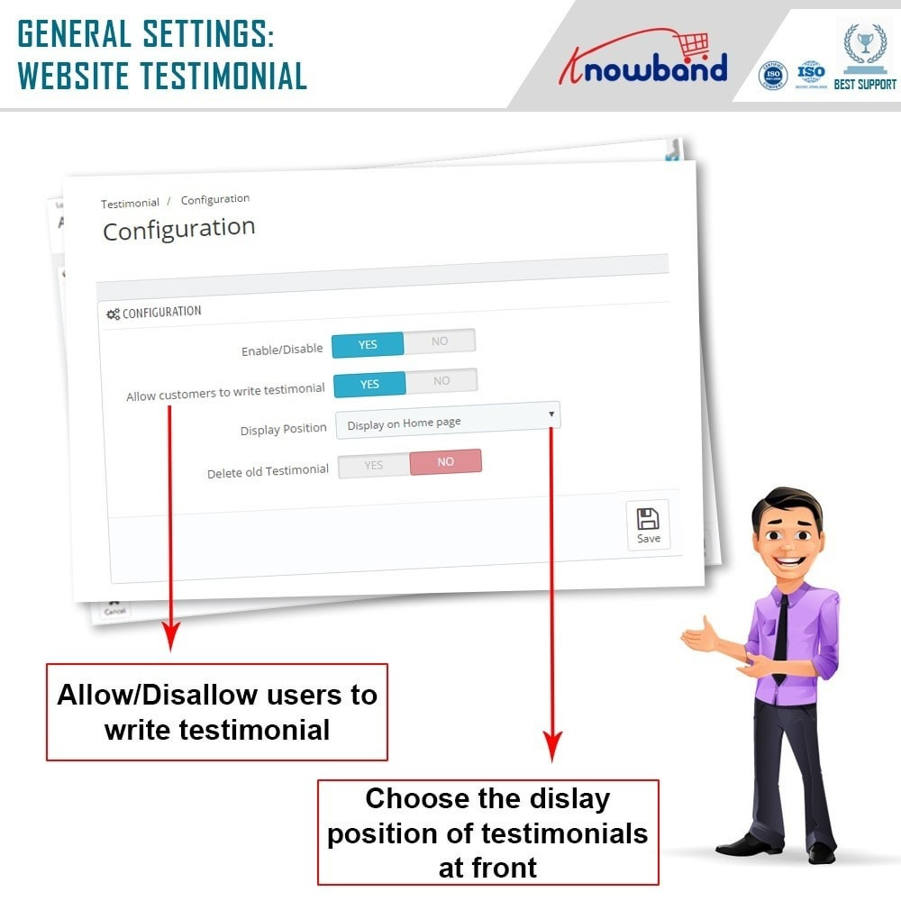 module - Opinie klientów - Knowband - Website Testimonial - 5