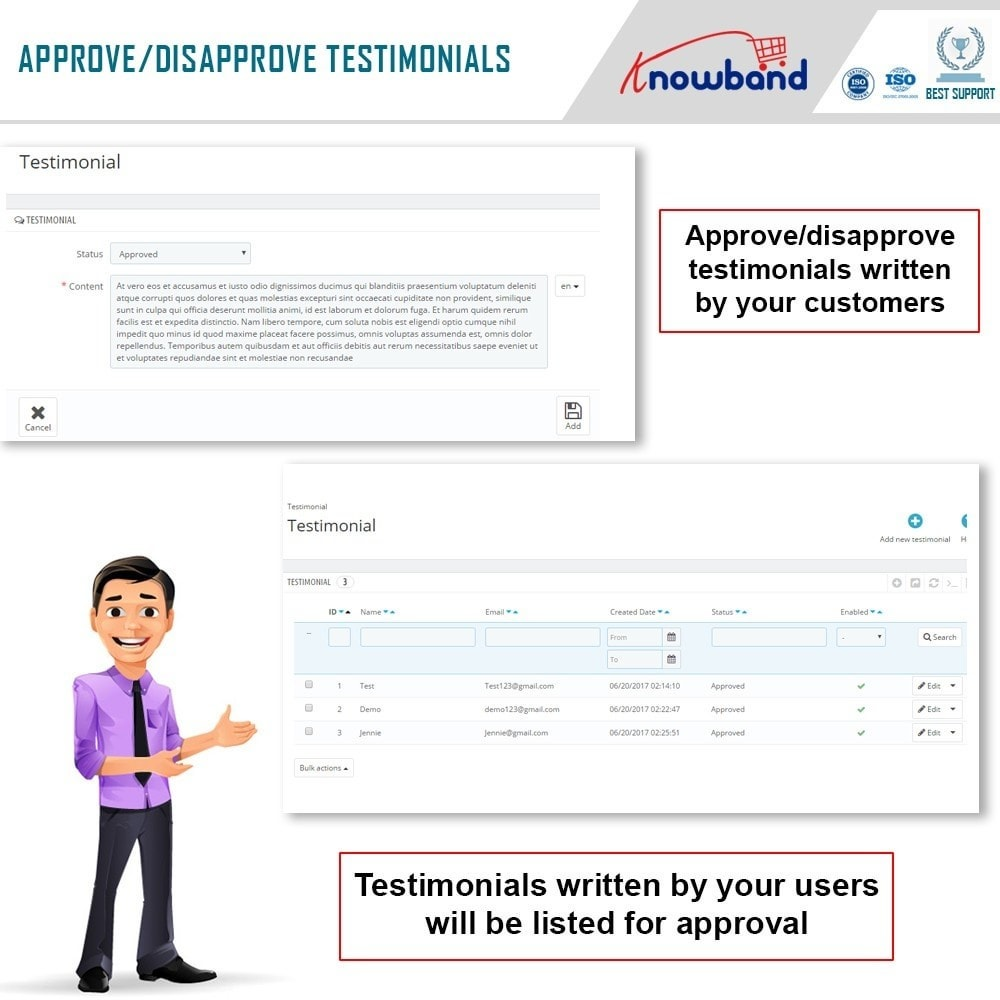 module - Customer Reviews - Knowband - Website Testimonial - 6