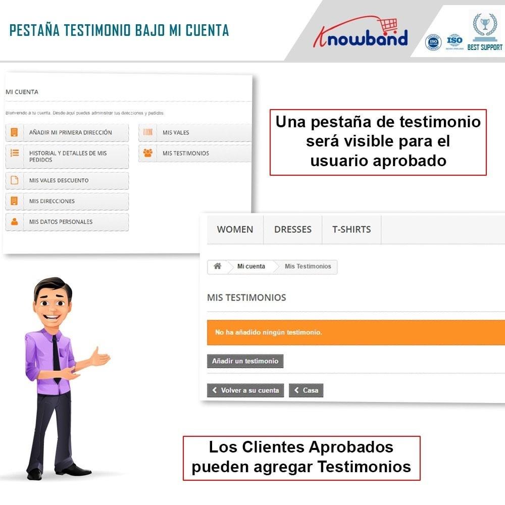 module - Comentarios de clientes - Knowband - Testimonios - 2