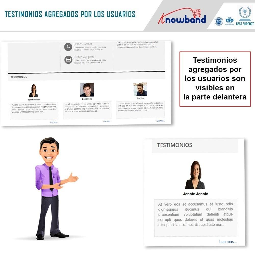 module - Comentarios de clientes - Knowband - Testimonios - 4