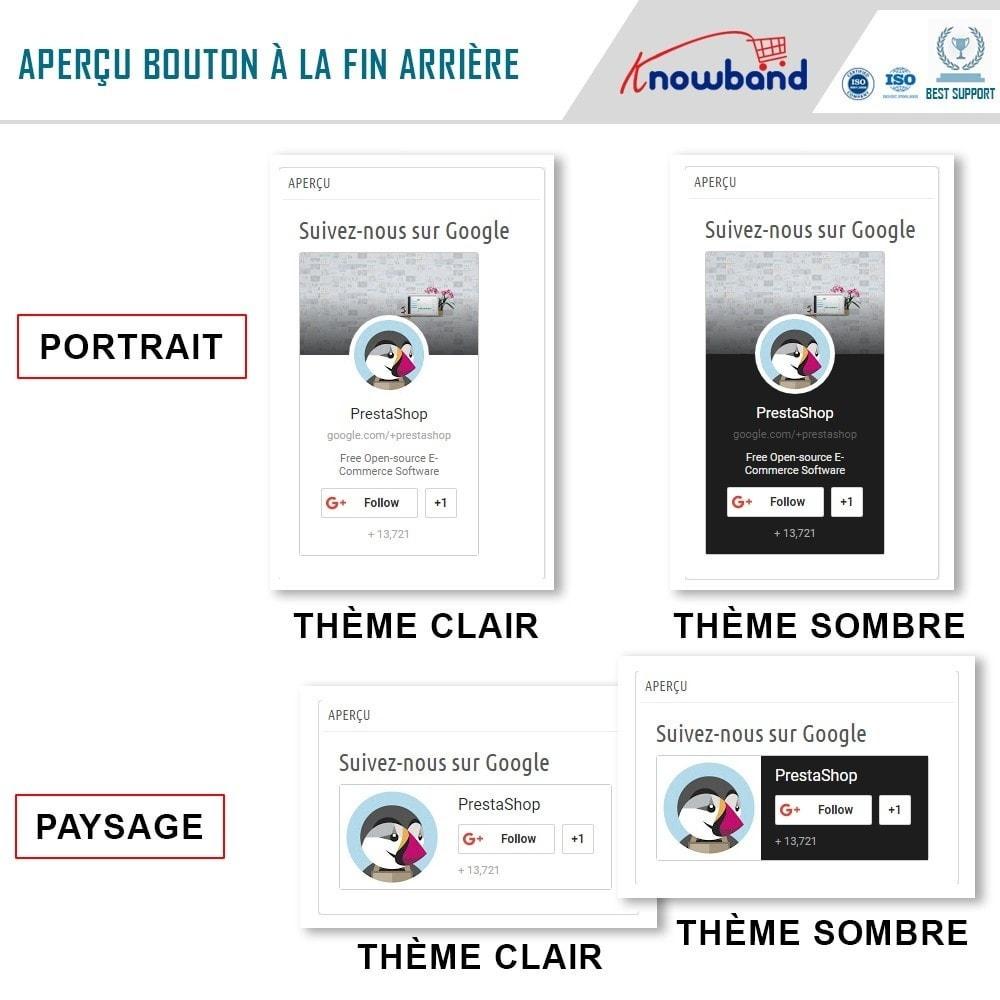 module - Widgets réseaux sociaux - Knowband - Badge Google Plus - 4