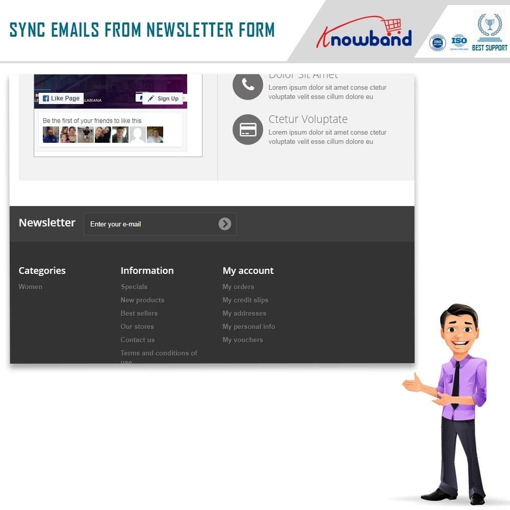 module - Newsletter & SMS - Knowband - Integrator per Mailigen e MailChimp - 2
