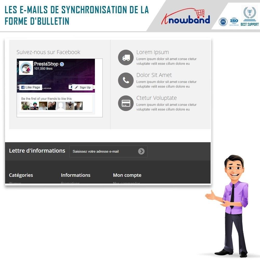 module - Newsletter & SMS - Knowband - Intégrateur Mailigen et MailChimp - 2