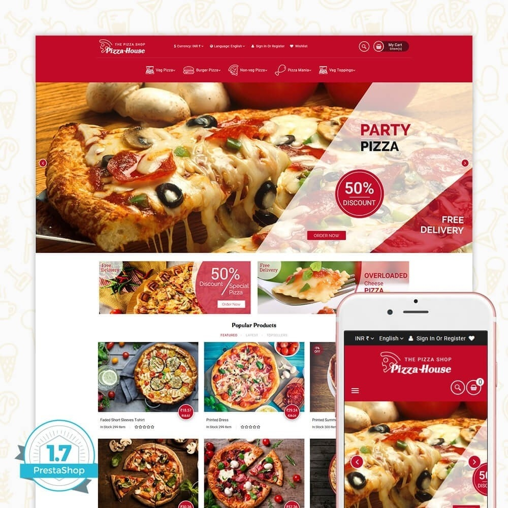 theme - Food & Restaurant - Pizza House Store - 1
