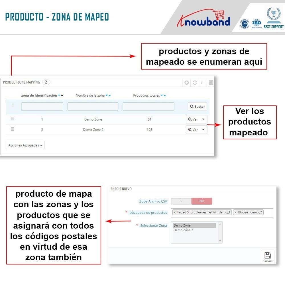 module - Internacionalización y Localización - Knowband- Disponibilidad de productos por código postal - 7