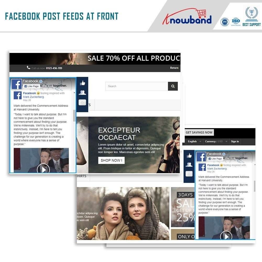 module - Widgets de Redes Sociais - Knowband - Post Feed - 2