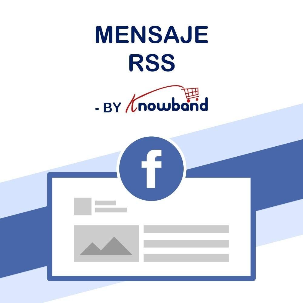 module - Widgets para redes sociales - Knowband - Publicaciones - 1