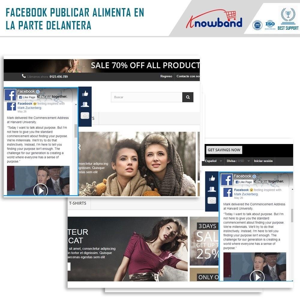 module - Widgets para redes sociales - Knowband - Publicaciones - 2