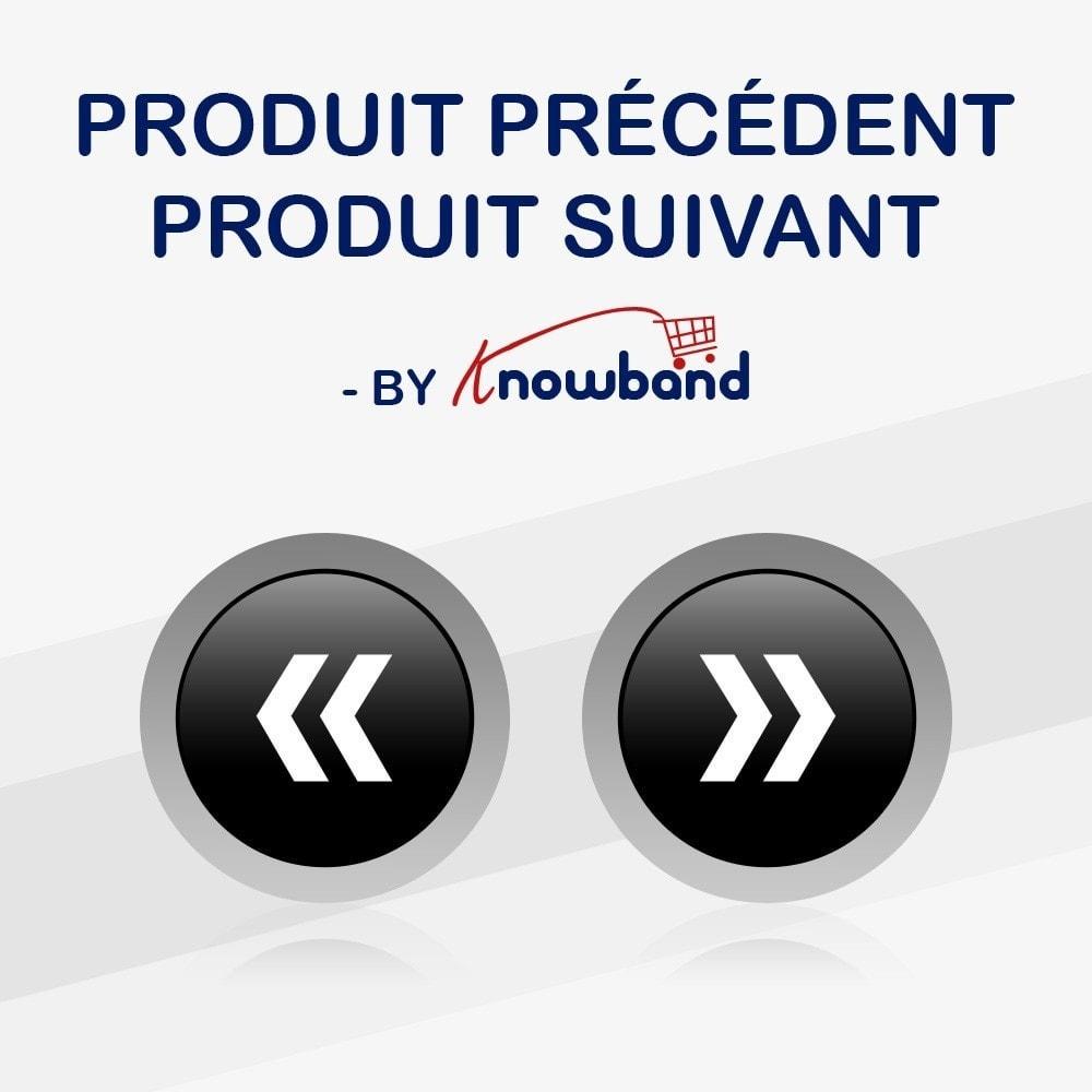 module - Outils de navigation - Knowband - Boutons Précédent et Suivant - 1