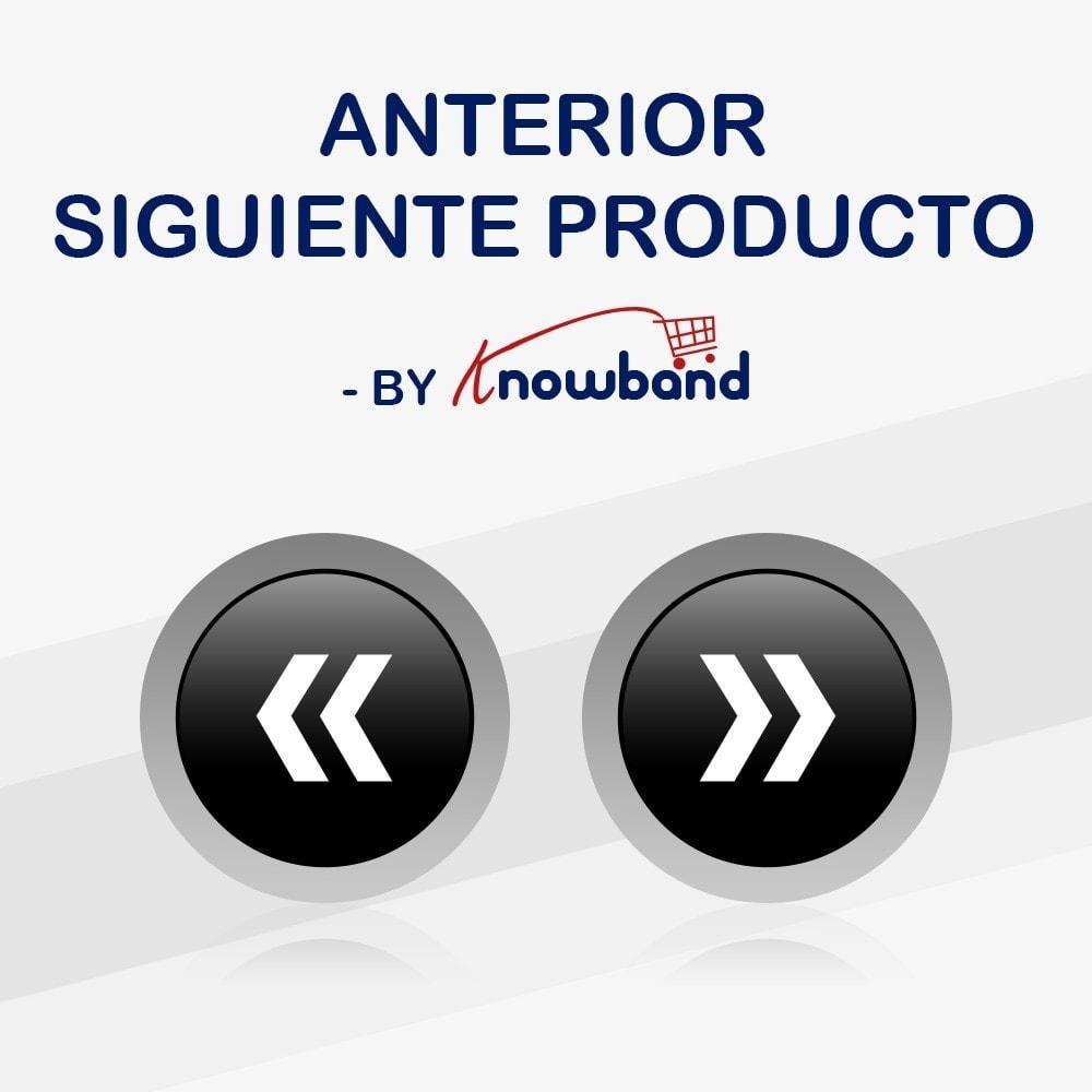 module - Herramientas de navegación - Knowband - Botones Anterior Siguiente - 1