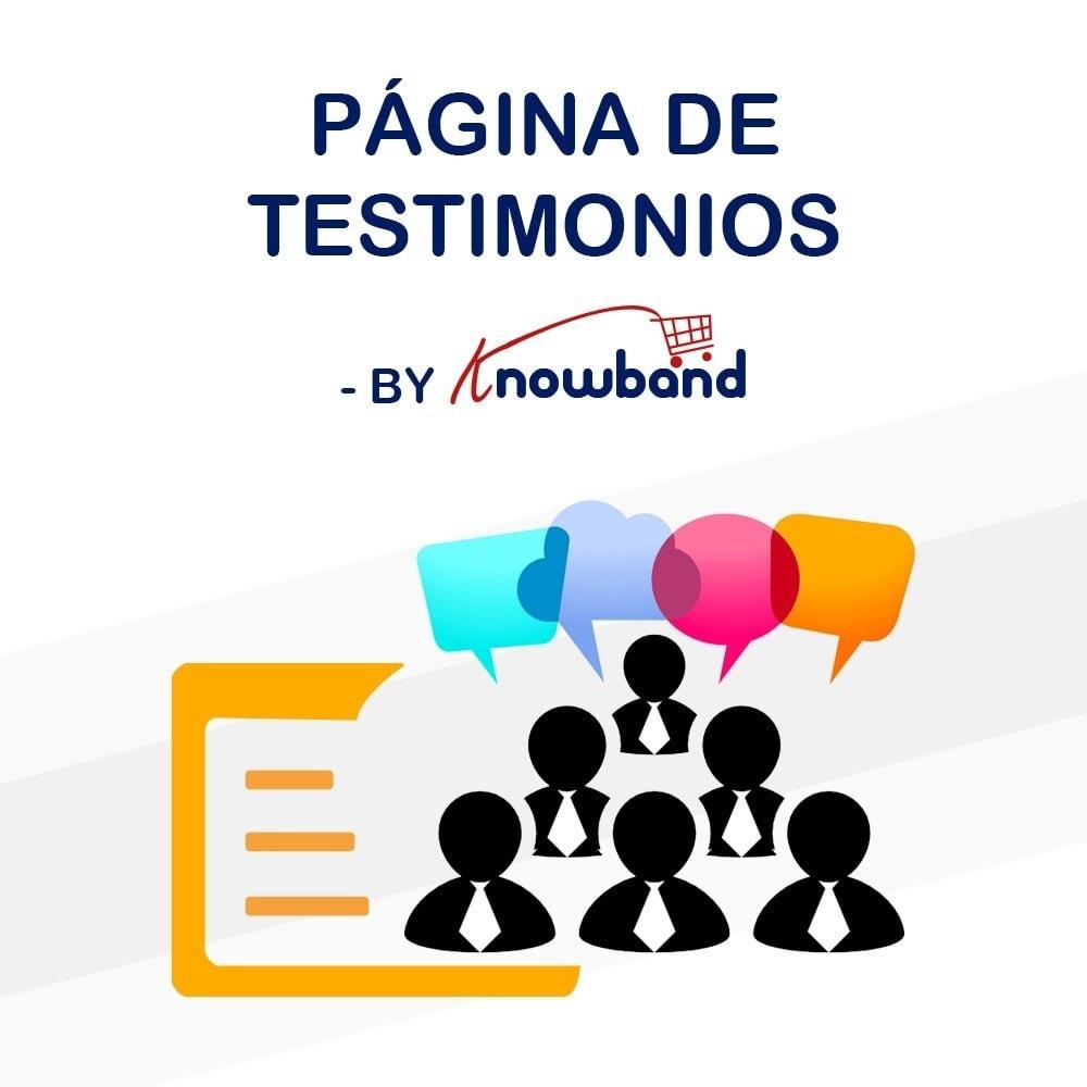 module - Comentarios de clientes - Knowband - Testimonios - 1