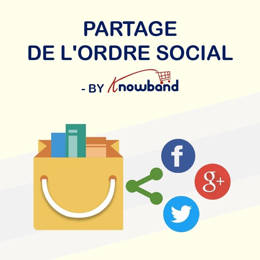 module - Boutons de Partage & Commentaires - Knowband -Partage des Commandes sur les Réseaux Sociaux - 1
