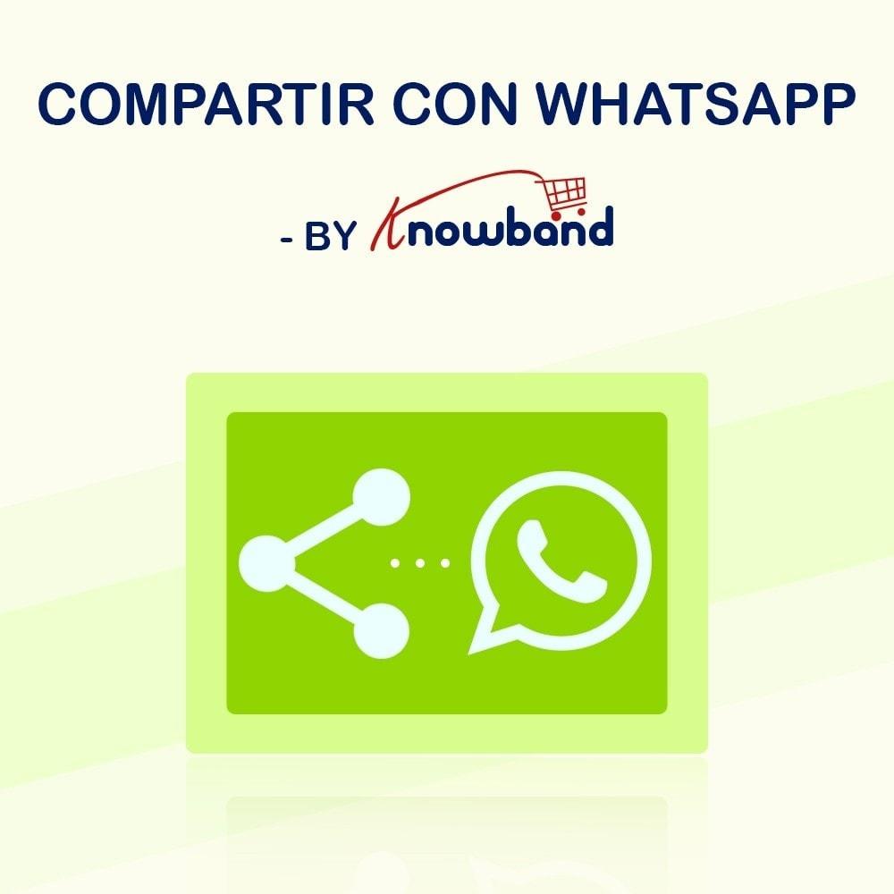 module - Compartir contenidos y Comentarios - Knowband - Compartir en WhstApp - 1