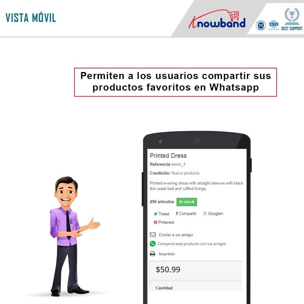 module - Compartir contenidos y Comentarios - Knowband - Compartir en WhstApp - 2