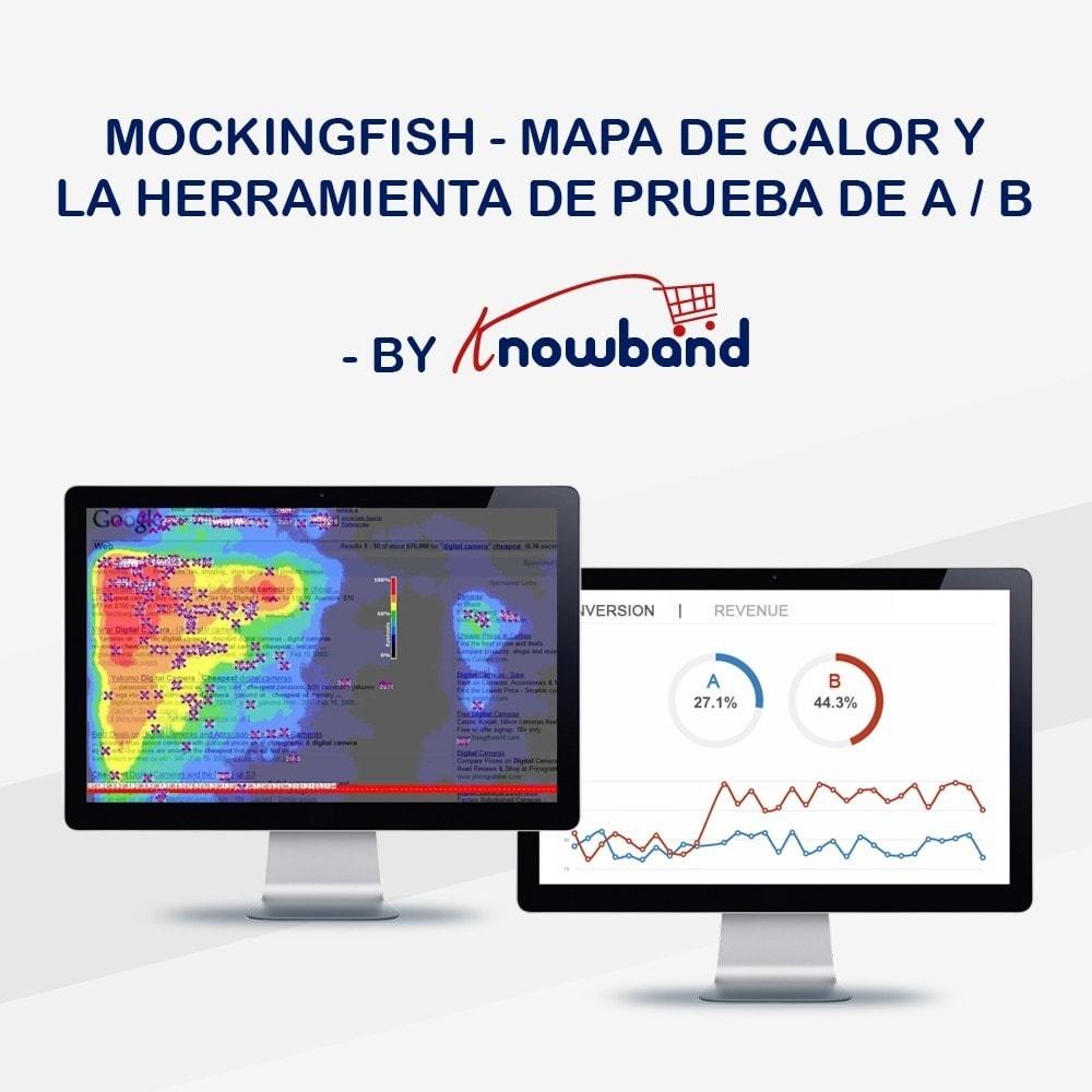 module - Informes y Estadísticas - Knowband - MockingFish, Heatmap y pruebas A / B - 1