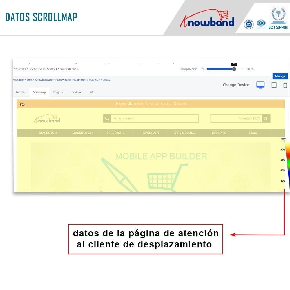 module - Informes y Estadísticas - Knowband - MockingFish, Heatmap y pruebas A / B - 4