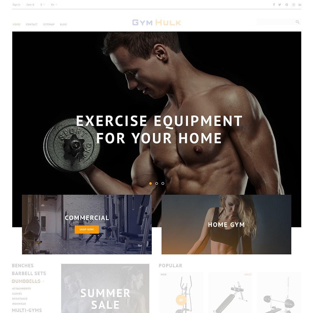 theme - Спорт и Путешествия - GymHulk - Gym Equipment - 5