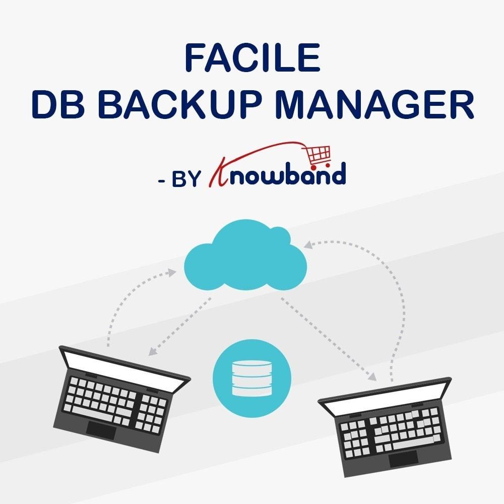 module - Migration de Données & Sauvegarde - Knowband - Gestionnaire de Sauvegarde facile de BDD - 1