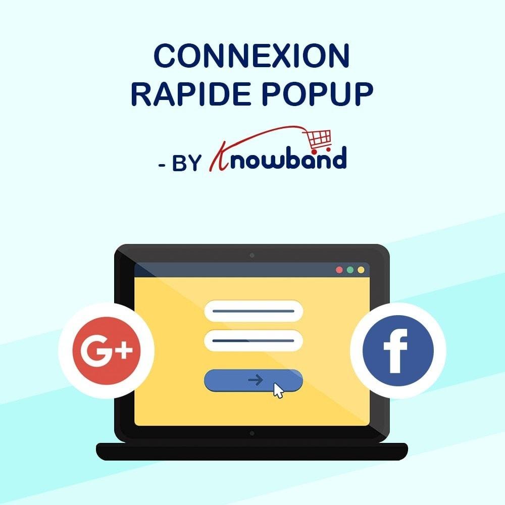 module - Boutons Login & Connect - Knowband - Popup de Conexion Rapide - 1