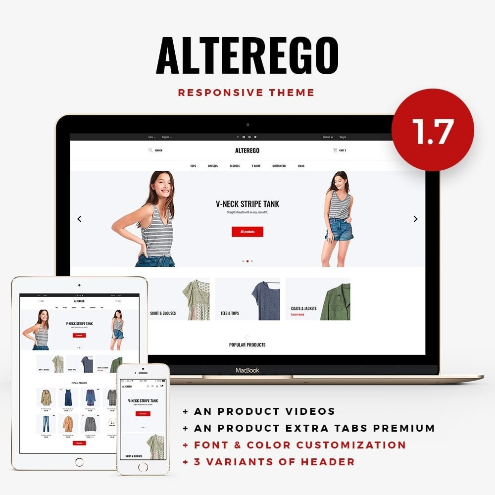 theme - Мода и обувь - Alterego Fashion Store - 1